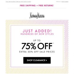 [Neiman Marcus] 75% off NEW styles in Clearance