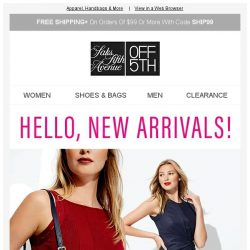 [Saks OFF 5th] Get a head-to-toe look with THESE deals!