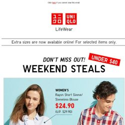 [UNIQLO Singapore] HURRAY for the long weekend!