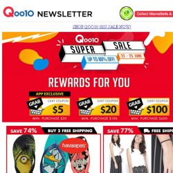 [Qoo10] Despicable Me Havaianas $16.80 & Up to 50% OFF Storewide!