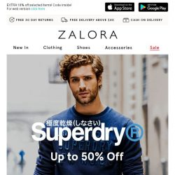 [Zalora] Superdry Up To 50% Off? No Kidding!