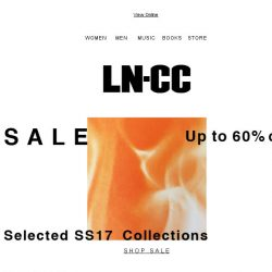 [LN-CC] SUMMER Sale up to 60% off: Saint Laurent / Stella McCartney / Marni / Alyx / Acne Studios