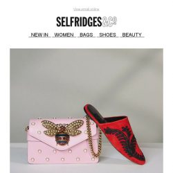 [Selfridges & Co] Fall for our brilliant new shoe and bag shapes