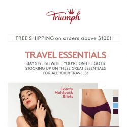 [Triumph] ✈️Here Are Your Travel Essentials!