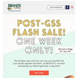 [Brand's] ONE WEEK ONLY! Get an extra $40 OFF when you shop with us this week!