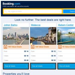 [Booking.com] Johor Bahru and Malacca – great last-minute deals from S$ 12