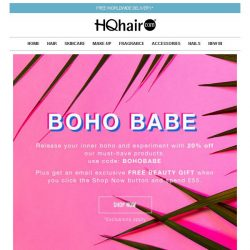 [HQhair] Boho Babe | 20% off + Free Beauty Gift