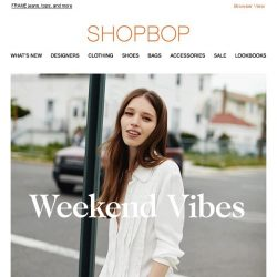 [Shopbop] Must-have off-duty staples
