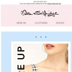 [Miss Selfridge] It's hip to be square