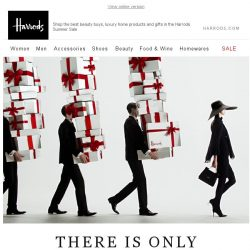 [Harrods] It's now or never...