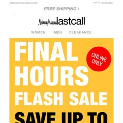 [Last Call] ⚡ FLASH SALE ⚡ FINAL HOURS! Up to 75% off