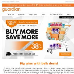 [Guardian] How to save big? Buy in BULK! Special deals this weekend for the whole family