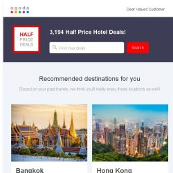 [Agoda] Hi , grab at least 50% off hotels on Agoda.com
