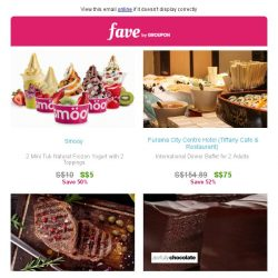 [Fave] Taste these deals: Smooy | Awfully Chocolate & more awaits!