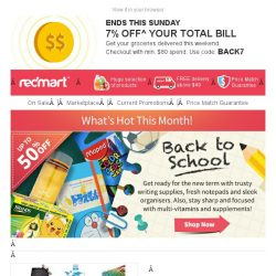 [Redmart] Get 7% Off Savings - What's Hot Right Now!