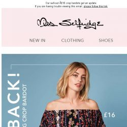 [Miss Selfridge] You loved them - and now they're back!