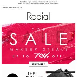 [RODIAL] Stock Up On Makeup Steals | Up To 70% Off