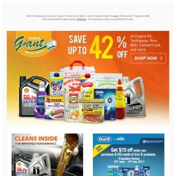 [Giant] THIS IS IT! Up to 42% for Engine Oil and Daily Essentials!