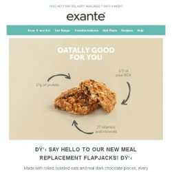 [Exante Diet] 50% off our new Meal Replacement Flapjacks and more!
