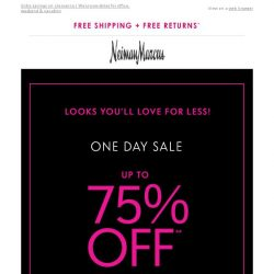 [Neiman Marcus] Ready, set, SAVE! Up to 75% off
