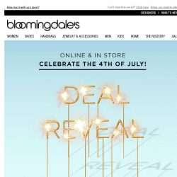 [Bloomingdales] Deal Reveal: Take an Extra 20%, 25%, 30% or 40% Off