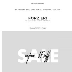 [Forzieri] Members-Only // Extra 15% Off SALE