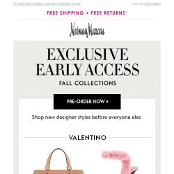 [Neiman Marcus] Pre-order new shoes & bags before everyone else