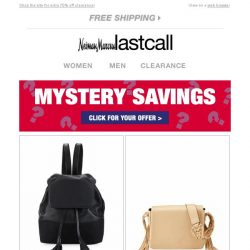 [Last Call] Mystery Savings >> save big when you click >>>