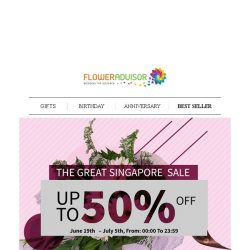 [Floweradvisor] Wrap Your Favorite Item with Almost Only Half Price