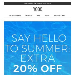 [Yoox] Last day: EXTRA 20% OFF everything