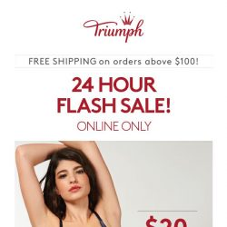 [Triumph] ⏰Hurry! Payday Flash Sale $20 Bras!