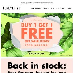 [FOREVER 21] FREE clothes? Count me in.