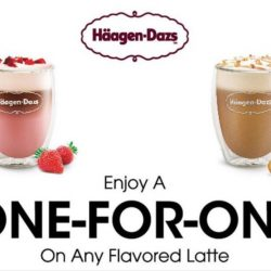 Haagen-Dazs: Buy 1 Get 1 Free Flavoured Lattes on Wednesdays & Thursdays in June