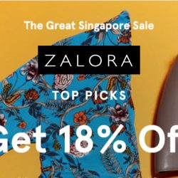 Zalora: GSS Special Coupon Code for Extra 18% OFF Your Favourite Styles