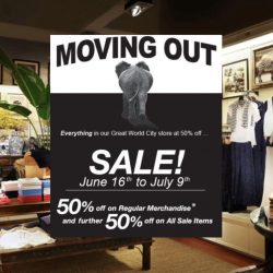 British India: Moving Out Sale at Great World City with 50% OFF Regular Items & Additional 50% OFF Sale Items
