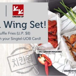 Singtel: 1-for-1 Wings Set at $19++ from Chicken Up!