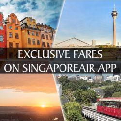 Singapore Airlines: Exclusive In-app Fares from S$470 to 4 Latest Destinations!