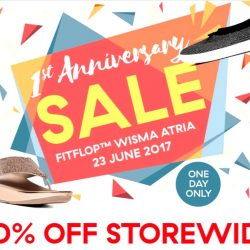db5b1d384 23 Jun 2017 FitFlop  Storewide 30% OFF for One Day Only at Wisma Atria