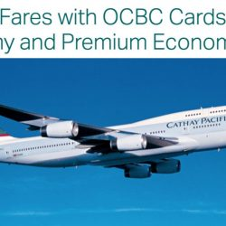 Cathay Pacific Airways: Exclusive All-in Airfares to over 50 Destinations from $188 with OCBC Cards