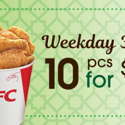 KFC: Weekday Deals - 10 pcs Chicken for $15