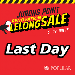 [POPULAR Bookstore] You'll seriously be missing out if you have yet to visit our Renovation Lelong Sale at POPULAR Jurong Point!