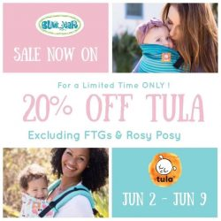 [Bumwear] ON NOW Till 9th June :-)20% OFF on all IN-STOCK Tula Products (excluding FTGs & Rosy Posy)Sales Applicable in-