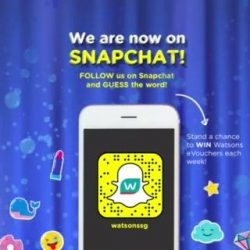 [Watsons Singapore] Watsons is on Snapchat!