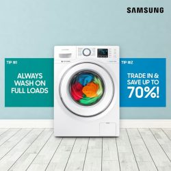 [Samsung Singapore] Here are two tips on how you can reduce water usage while doing your laundry:[Tip 1] Always wash full