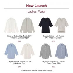 [MUJI Singapore] Try on our newly launched High Twisted Organic Cotton series.