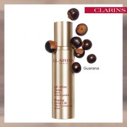 [Clarins] 79% of women noticed a slimmer face thanks to Guarana extract which visibly defines facial contours and reduces a double