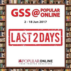 [POPULAR Bookstore] It's the last 2 days of the GSS@POPULAR ONLINE for 20% off your online purchases and an ADDITIONAL