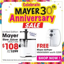 [MAYER] Mayer 30th Anniversary SALES - LIMITED EDITION !