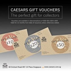 [Caesars] CAESARS Gift vouchers available for purchase at CAESARS Retail boutique.