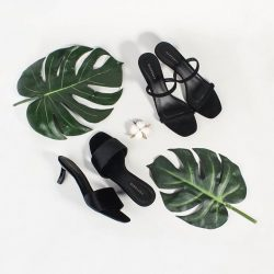 [Heatwave] BLACK BEAUTY: A seamless blend of comfort and style, the Gianna Velvet Sandals and Fleur Strappy Sandals inspire us to